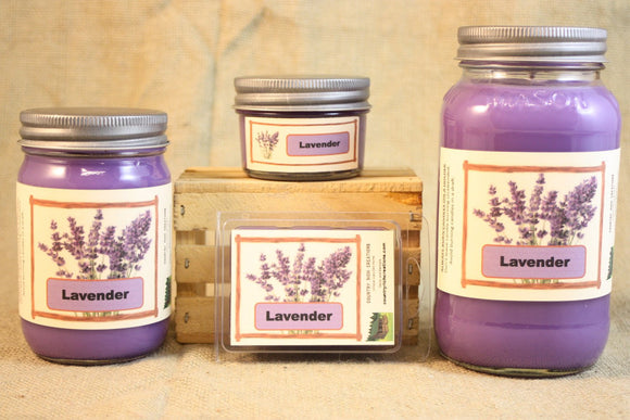 Lavender Scent Candles and Wax Melts, Flower Scent Candle Wax, Highly Scented Candles and Wax Tarts, Calming and Relaxing Scent - Country Rich Creations, LLC