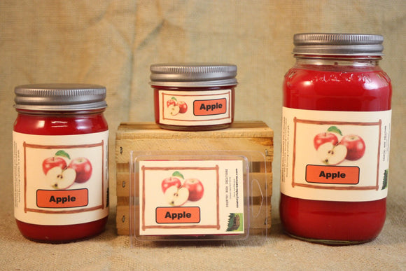 Apple Orchard Scented Candle, Apple Orchard Scented Wax Tarts, 26 oz, 12 oz, 4 oz Jar Candles or 3.5 Clam Shell Wax Melts - Country Rich Creations, LLC