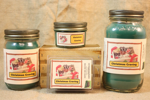 Christmas Cravings Candle and Wax Melts, Holiday Scent Candle, Highly Scented Candles and Wax Tarts, Christmas Candle,  Hostess Gift - Country Rich Creations, LLC