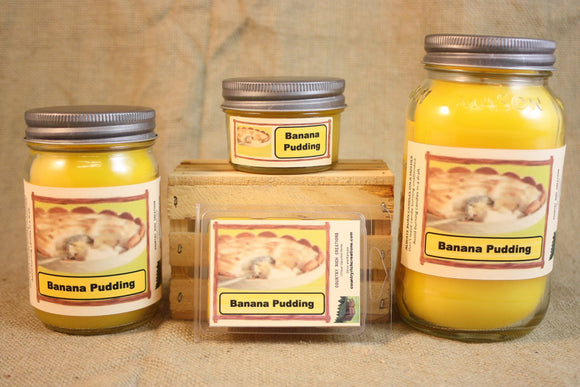 Banana Pudding Candle and Wax Melts, Bakery Scent Candle, Highly Scented Candles and Wax Tarts, Holiday Scent Candle, Housewarming Gift - Country Rich Creations, LLC