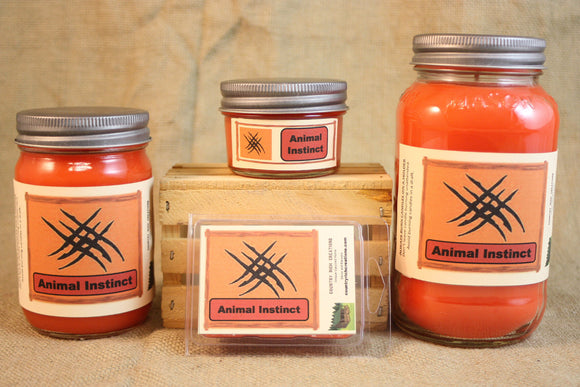 Animal Instinct Candle and Wax Melts, Male Fragrance Candle, Highly Scented Candles and Wax Tarts, Gift for Him, Masculine Scent Candle - Country Rich Creations, LLC