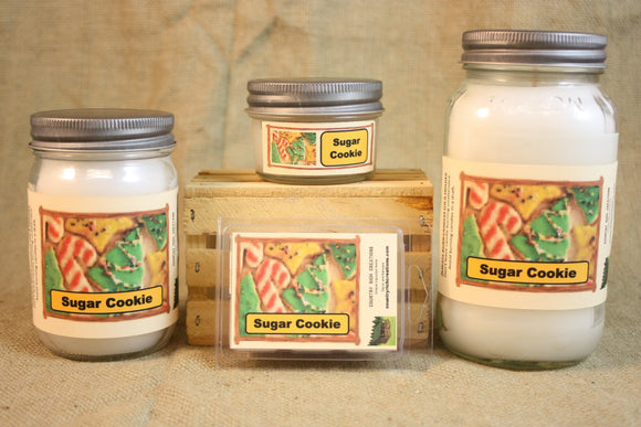 Sugar Cookie Candle and Wax Melts, Bakery Scent Candle, Highly Scented Candles and Wax Tarts, Dessert Scent Candle, Mason Jar Candle - Country Rich Creations, LLC