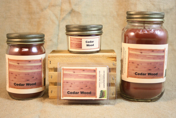 Cedar Wood Scent Candles and Wax Melts, Nature Scent Candle Wax, Highly Scented Candles and Wax Tarts, True Scent Candle, Top Seller - Country Rich Creations, LLC