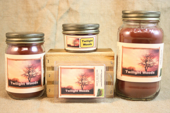 Twilight Woods Candle and Wax Melts, Nature Scent Candle, Highly Scented Candles and Wax Tarts, BBW Type Scent, Mason Jar Candles - Country Rich Creations, LLC