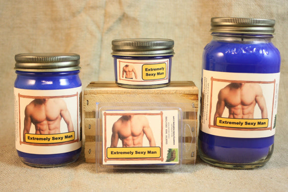Extremely Sexy Man Candle and Wax Melts, Male Fragrance Scented Candles and Wax Tarts, Gift for Him, Masculine Scent Candle - Country Rich Creations, LLC
