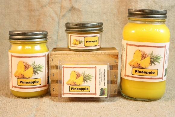Pineapple Scent Candles and Wax Melts, Fruit Scent Candle Wax, Highly Scented Candles and Wax Tarts, Summer Scent Candle, Housewarming Gift - Country Rich Creations, LLC