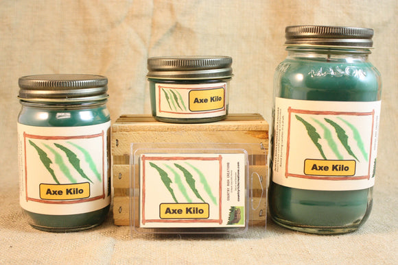 Axe Kilo Type Candle, Scented Candles and Wax Melts, Highly Scented Male Fragrance Candles and Wax Tarts, Masculine Candle, Gift for Him - Country Rich Creations, LLC