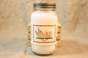 French Vanilla Scented Candle, French Vanilla Scented Wax Tarts, 26 oz, 12 oz, 4 oz Jar Candles or 3.5 Clam Shell Wax Melts - Country Rich Creations, LLC