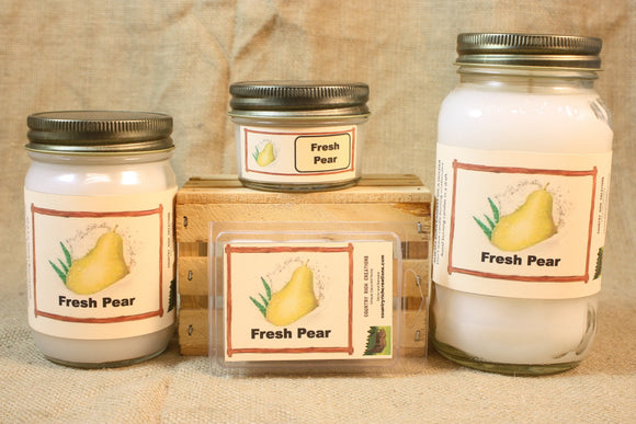 Fresh Pear Candle, Scented Candles and Wax Melts, Highly Scented Fruit Candles and Wax Tarts, Fresh Scent Summer Candle - Country Rich Creations, LLC