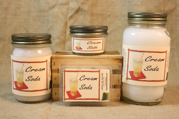 Cream Soda Scented Candle, Cream Soda Scented Wax Tarts, 26 oz, 12 oz, 4 oz Jar Candles or 3.5 Clam Shell Wax Melts - Country Rich Creations, LLC