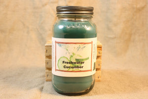 Freshwater Cucumber Candles and Wax Melts, Vegetable Scent Candle, Highly Scented Candles and Wax Tarts, Summertime Candle, Hostess Gift - Country Rich Creations, LLC