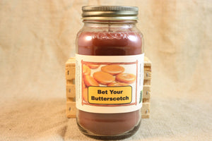 Bet Your Butterscotch Candle, Candy Scent Candles and Wax Melts, Highly Scented Candles and Wax Tarts, Sweet Scent Mason Jar Candle - Country Rich Creations, LLC