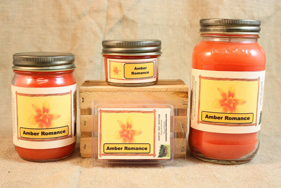 Amber Romance Candle and Wax Melts, Female Fragrance Scent Candle, Highly Scented Candles and Wax Tarts, Gift for Her, VS Type Scent - Country Rich Creations, LLC