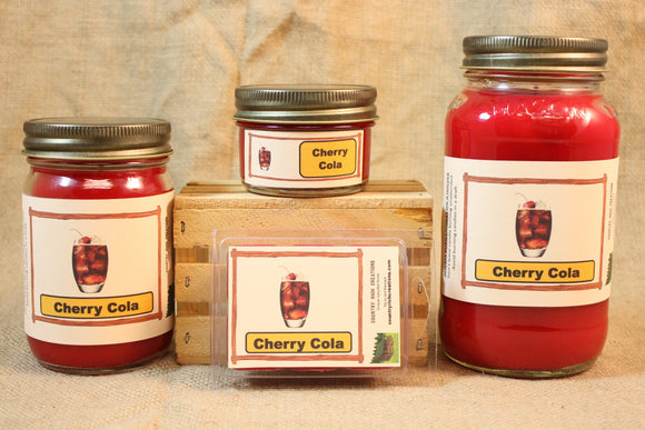 Cherry Cola Scent Candles and Wax Melts, Soda Scent Candle Wax, Highly Scented Candles and Wax Tarts, True Scent of Delicious Cherry Cola - Country Rich Creations, LLC