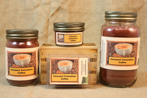 Cinnanut Columbian Coffee Candle and Wax Melts, Beverage Scent Candle, Highly Scented Candles and Wax Tarts, Coffee Lover Gift, Gift For Mom - Country Rich Creations, LLC