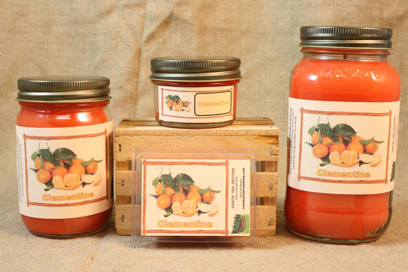 Clementine Scent Candles and Wax Melts, Fruit Scented Candle Wax, Highly Scented Candles and Wax Tarts, Fresh Sweet Scent - Country Rich Creations, LLC