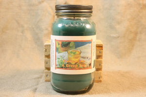 Clementine N Green Tea Candle, Scented Candles and Wax Melts, Highly Scented Beverage Candles and Wax Tarts, Refreshing Relaxing Scent - Country Rich Creations, LLC