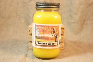 Autumn Woods Candle and Wax Melts, Nature Scent Candle, Highly Scented Candles and Wax Tarts, Thanksgiving Candle, Fall Scent Candle - Country Rich Creations, LLC