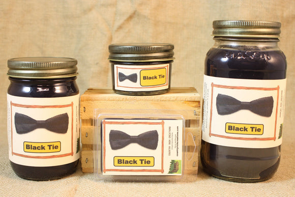 Black Tie Candle and Wax Melts, Male Fragrance Scent Candle, Highly Scented Candles and Wax Tarts, Gift for Him, Masculine Scent Candle - Country Rich Creations, LLC