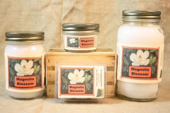 Magnolia Blossom Candles and Wax Melts, Highly Scented Floral Candle and Wax Tarts, Springtime Flower Scent, Gift for Mom - Country Rich Creations, LLC