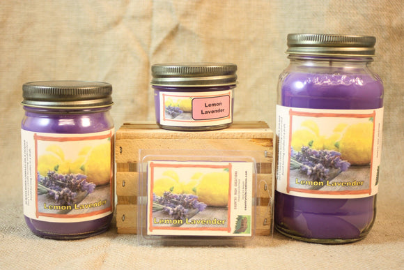 Lemon Lavender Scent Candles and Wax Melts, Flower Scent Candle Wax, Highly Scented Candles and Wax Tarts, Yankee Type Candle - Country Rich Creations, LLC