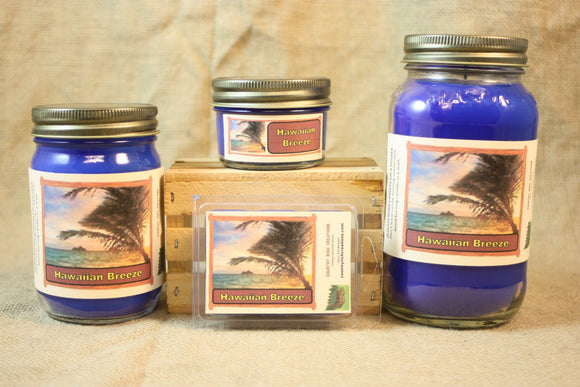 Hawaiian Breeze Candle and Wax Melts, Nature Scent Candle, Highly Scented Candles and Wax Tarts, Beach Scent Candle, Summertime Candle - Country Rich Creations, LLC