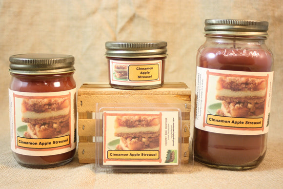 Apple Cinnamon Streusel Scent Candles and Wax Melts, Bakery Scent Candle, Highly Scented Candles and Wax Tarts, Great Fall Scent Candle - Country Rich Creations, LLC