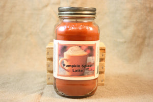 Pumpkin Spice Latte Scent Candles and Wax Melts, Beverage Scent Candle Wax, Highly Scented Candles and Wax Tarts, Coffee Candle for Fall - Country Rich Creations, LLC