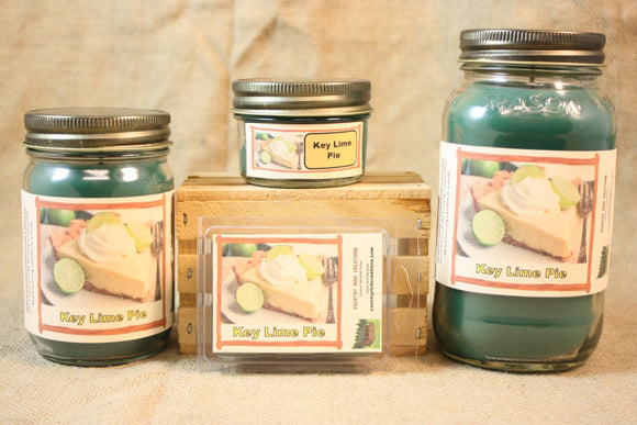 Key Lime Pie Candle and Wax Melts, Bakery Scent Candle, Highly Scented Candles and Wax Tarts, Dessert Candle, Mason Jar Candle, Hostess Gift - Country Rich Creations, LLC