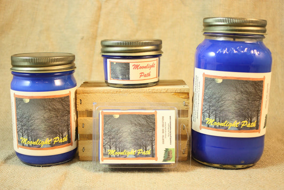 Moonlight Path Candle and Wax Melts, Women Perfume Scent Candle, Highly Scented Candles and Wax Tarts, Gift for Her, Mason Jar Candles - Country Rich Creations, LLC