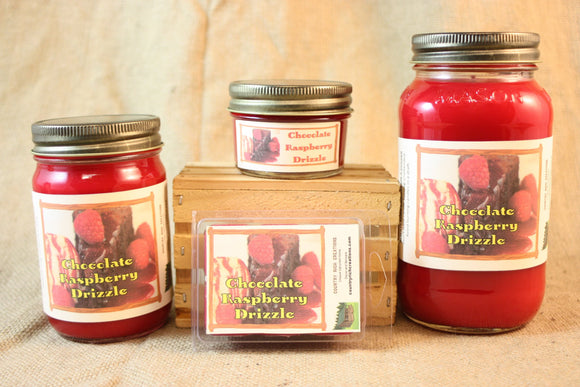 Chocolate Raspberry Drizzle Scent Candles and Wax Melts,  Bakery Scent Candle Wax, Highly Scented Candles and Wax Tarts, Yummy Sweet Scent - Country Rich Creations, LLC