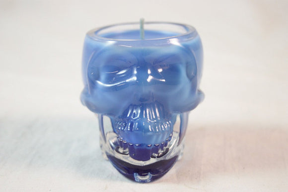 Skull Candle, Highly Scented Candle in Crystal Skull Vodka, Thick Glass, Custom Color and Scent, Halloween Decoration, Fall Decor - Country Rich Creations, LLC