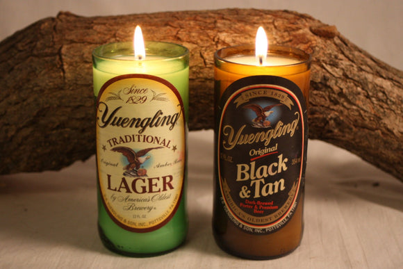 Beer Bottle Candle from Upcycled Yuengling and Yuengling Black and Tan, Beer Bottles, Scented Candles in your Choice of Scent, Bar Décor - Country Rich Creations, LLC