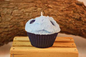 Cupcake Candles, Blueberry Cupcake Candle, Fake Food - Country Rich Creations, LLC