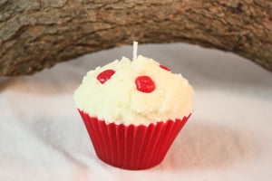 Cupcake Candles, Cherry Cupcake Candle, Fake Food - Country Rich Creations, LLC