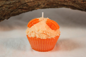 Cupcake Candles, Orange Cupcake Candle, Fake Food - Country Rich Creations, LLC
