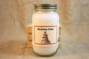 Wedding Cake Scented Candle, Wedding Cake Scented Wax Tarts, 26 oz, 12 oz, 4 oz Jar Candles or 3.5 Clam Shell Wax Melts - Country Rich Creations, LLC