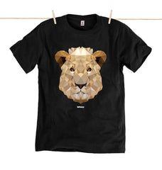 Low Poly Lion Tee Eighteen Rabbit Fair Trade