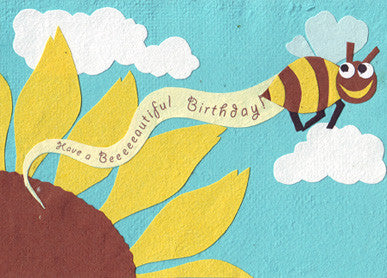 Bee-eautiful Birthday card