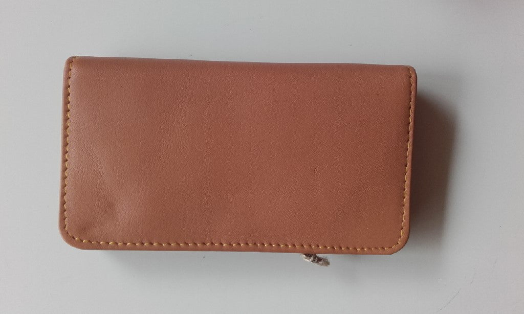 "Recycled leather purse - ""Jessie"""
