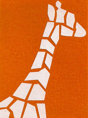 Abstract Giraffe card - Stationery - Eighteen Rabbit Fair Trade