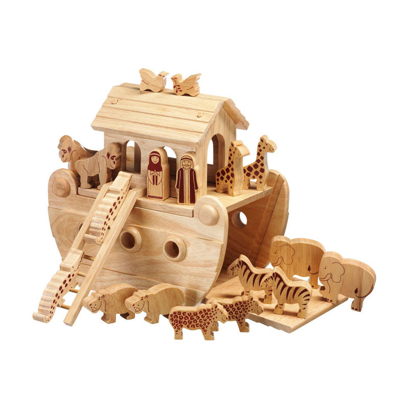 Natural Wooden Ark Junior Play Set