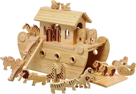 Natural Wooden Ark Play Set - Soft toys - Eighteen Rabbit Fair Trade