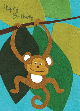 Birthday Hangout card - Stationery - Eighteen Rabbit Fair Trade