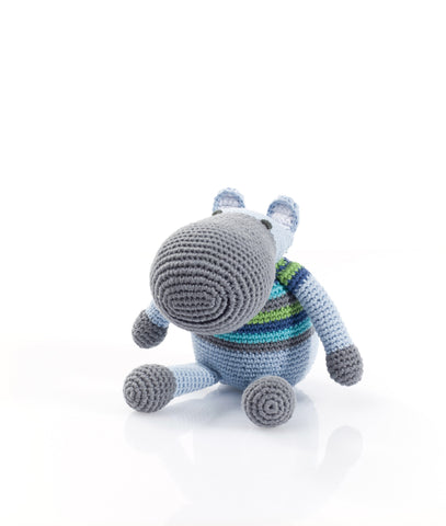 William the Hippo - Soft toys - Eighteen Rabbit Fair Trade