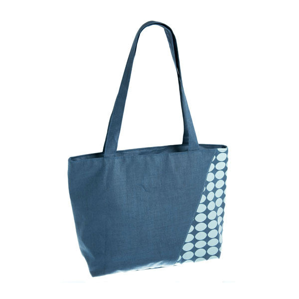 Geometric Linen tote bag - Accessories - Eighteen Rabbit Fair Trade  - 1