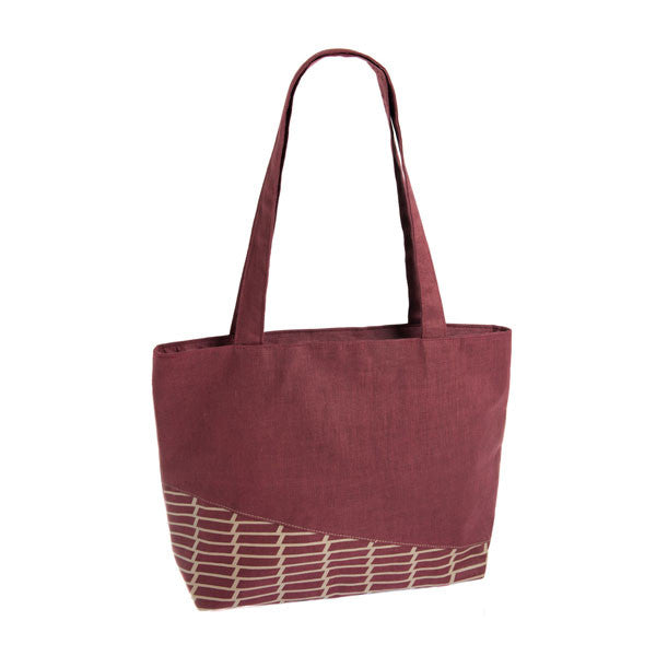Geometric Linen tote bag - Accessories - Eighteen Rabbit Fair Trade  - 2