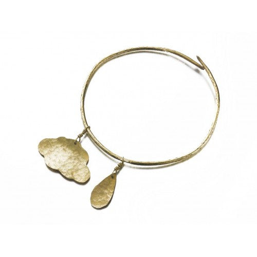 Cloud & Raindrop Bangle - Jewellery - Eighteen Rabbit Fair Trade  - 1