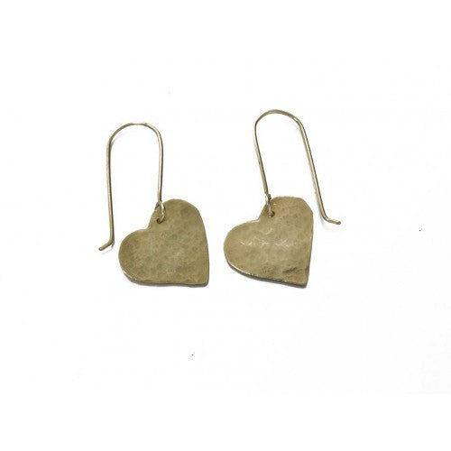 Heart Earrings - Jewellery - Eighteen Rabbit Fair Trade  - 1