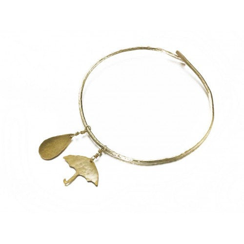 Umbrella & Raindrop Bangle - Jewellery - Eighteen Rabbit Fair Trade  - 2